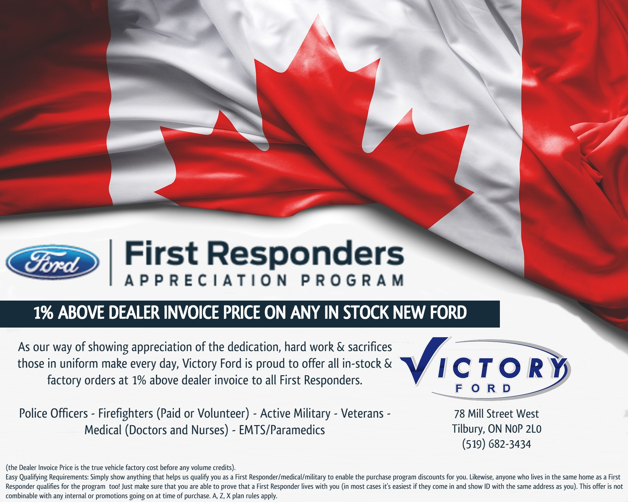 Victory Ford Military & First Responder Discount